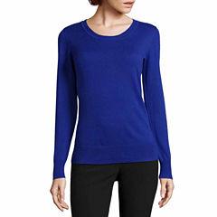 Worthington® Long-Sleeve Essential Crewneck Sweater