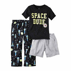 Carter'S Boys Shortsleeve 3Pc Poly Sleep Set