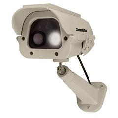 Securityman Solar Powered Spotlight Dummy Security Camera
