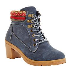 Henry Ferrera Womens Nubuck Material Boots
