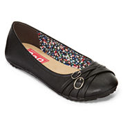 Pop Nelly Double-Buckle Ballet Flats