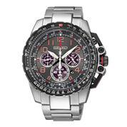 Seiko® Prospex Aviator Mens Stainless Steel Solar Chronograph Watch SSC315