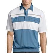 Palmland® Multi-Stripe Banded-Hem Polo