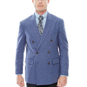 Stafford® Linen-Cotton Double-Breasted Sport Coat - Classic Fit