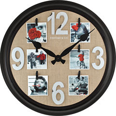 FirsTime® Burlap Wall Clock