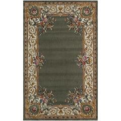 Momeni® Open Field Hand-Carved Wool Rectangular Rug