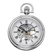 Stührling® Original Mens Stainless Steel Skeleton Automatic Pocket Watch