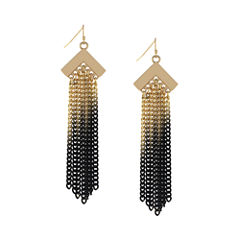 Nicole Miller® Ombré Chain Fringe Earrings