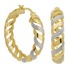 Diamond-Accent San Marco Hoop Earrings