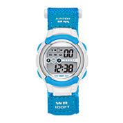 Womens Nylon Strap Digital Sport Watch