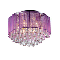 Warehouse Of Tiffany Erida 6-Light Chrome CeilingLamp