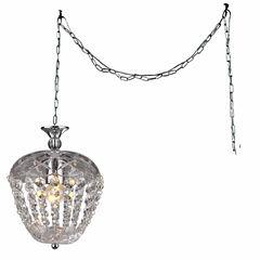 Warehouse Of Tiffany Miriam 1-light Crystal 8-inchChrome Swag Lamp