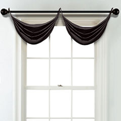 JCPenney Home Matte Satin Grommet Unlined Waterfall Valance