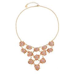 Monet Jewelry Pink Statement Necklace