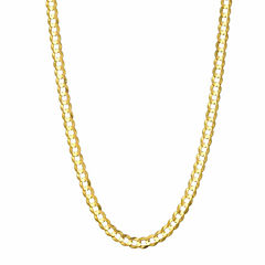 14K Yellow Gold 3.6 MM Curb Necklace 18