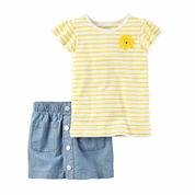 Carter's Girls 2-pc. Short Sleeve Short Set