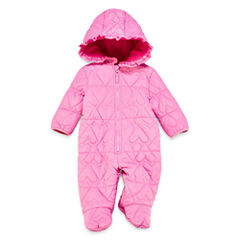 Weatherproof Girls Heavyweight Quilted Snowsuit-Baby