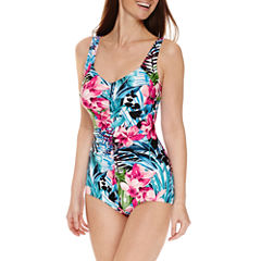 Le Cove Girl Leg One Piece Swimsuit