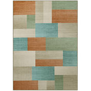 Multi Blocks Printed Rectangular Rug