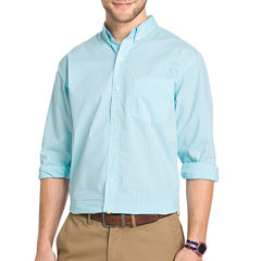 IZOD Long-Sleeve Stretch Gingham Sport Shirt