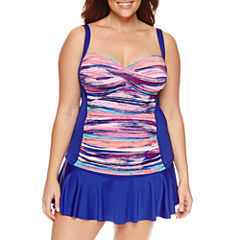 Liz Claiborne Stripe Sweetheart Tankini or Skirted Hipster
