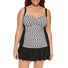 Liz Claiborne Chain Reaction Sweetheart Tankini or Skirted Hipster - Plus