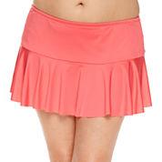 Liz Claiborne Solid Swim Skirt