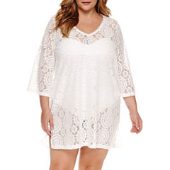 a.n.a V-Neck Crochet Coverup - Plus