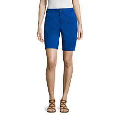 a.n.a Modern Fit Twill Bermuda Shorts