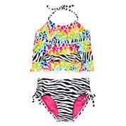 Big Chill Triple Tier 2-pc.Tankini Swimsuit - Girls 7-16