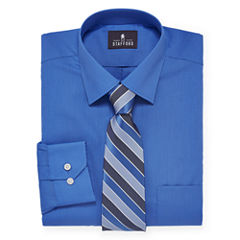 Stafford® Travel Easy-Care Dress Shirt and Tie Set