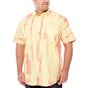 The Foundry Big & Tall Supply Co.™ Short-Sleeve Tie-Dye Woven Shirt