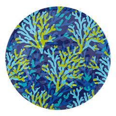 Outdoor Oasis™ Coral Set of 4 Blue Melamine Salad Plates