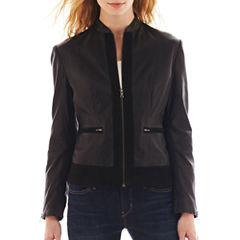 Excelled Lamb Scuba Jacket with Sueded Trim