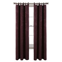 Royal Velvet® Viola Grommet-Top Scalloped Curtain Panel