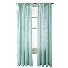 MarthaWindow™ Covington Square Rod-Pocket Cotton Curtain Panel