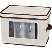 Household Essentials® Canvas Flute Stemware Chest + Trim