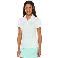 PGA TOUR® Short Sleeve Floral Polo Shirt