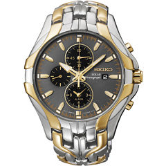 Seiko® Excelsior Mens Two-Tone Chronograph Solar Watch SSC138