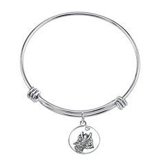 Inspired Moments™ Sterling Silver Angel Bangle Bracelet
