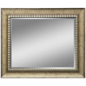 Abby Distressed with Beaded Inset Wall Mirror