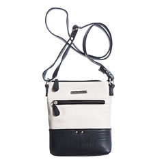 Stone And Co North/South Single Zip Pebble Leather Mini Crossbody Bag