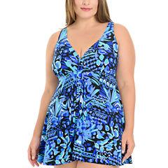 Le Cove Swim Dress Plus