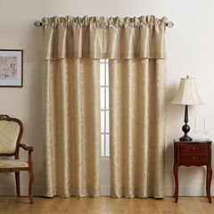 Marquis by Waterford Isabella Gold Rod-Pocket Curtain Panel