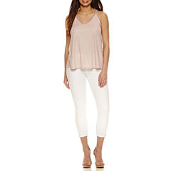 Bold Elements Beaded V-Neck Top or Skinny Ankle Zip Pants