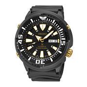 Seiko® Prospex Mens Black Strap Automatic Diver Watch SRP641