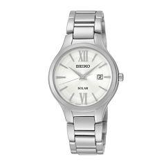 Seiko® Womans Stainless Steel Solar Bracelet Watch SUT207