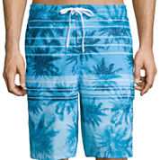 Speedo® Palm Stripe E-Board Shorts