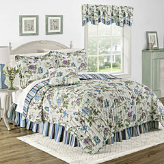 Waverly® Charleston Chirp Larkspur Reversible Quilt Set