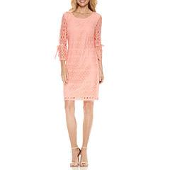 R & K Originals 3/4 Sleeve Sheath Dress